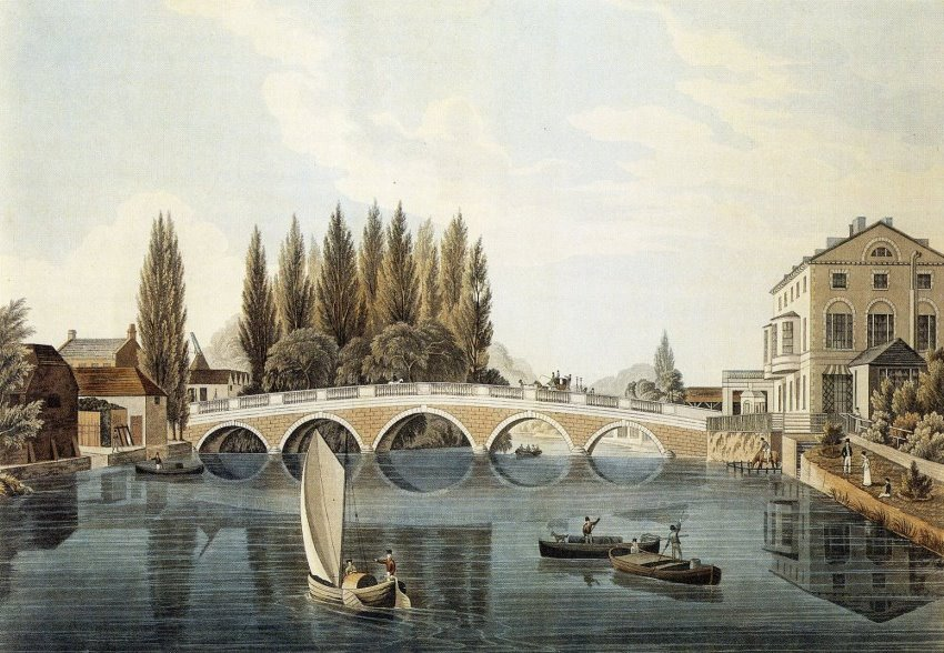 Bedford Bridge in 1824.